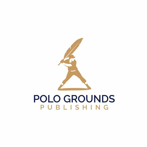Baseball logo with the title 'Logo For Polo Ground Publishing'