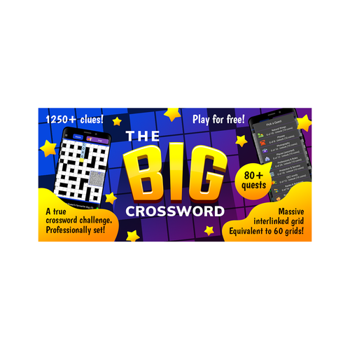 Puzzle design with the title 'The Big Crossword FEATURE GRAPHICS'