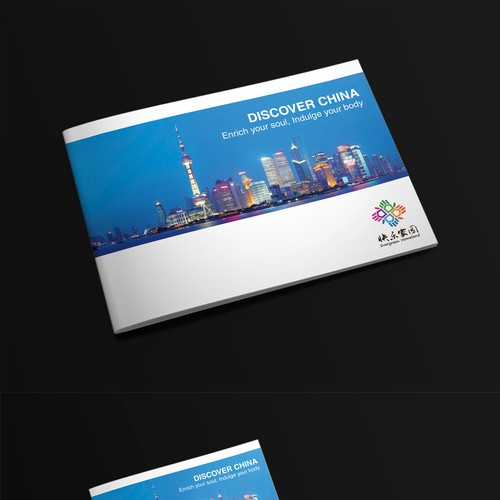 Neat design with the title 'Create a brochure for a 5-star senior travel package to China with a focus on culture and wellbeing'