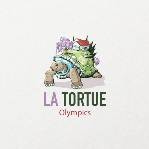Home improvement logo with the title 'La Tortue Logo'