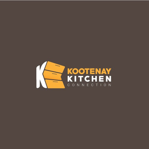 Kitchen furniture design with the title 'KOOTENAY KITCHEN CONNECTION'