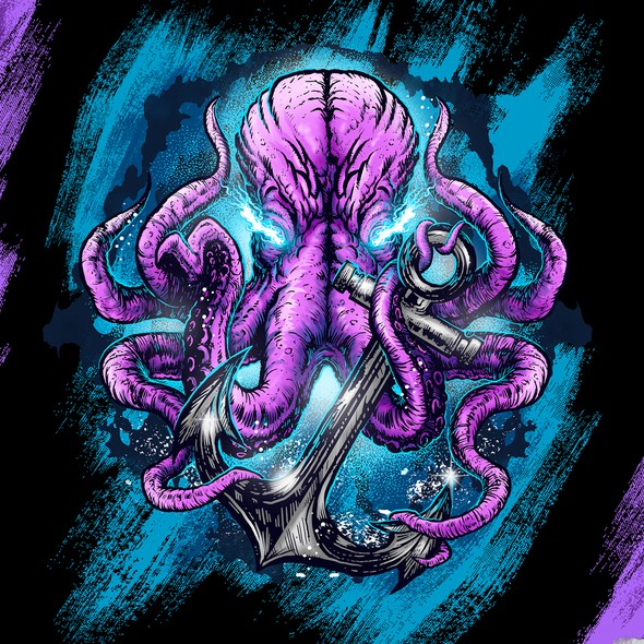 Nautical design with the title 'Eletric Octopus '