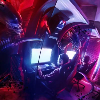 Alien Cybercafe