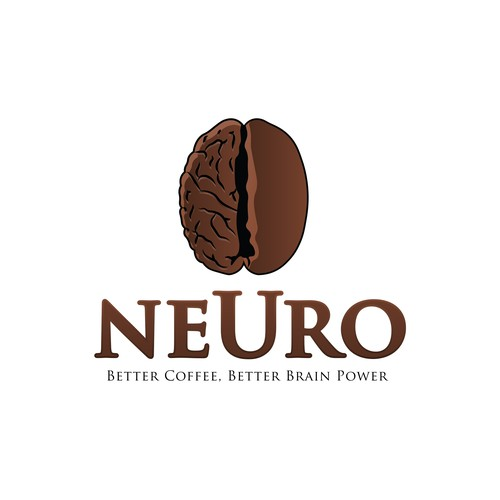 Neuro design with the title 'Logo concept for brain enhancing coffee'