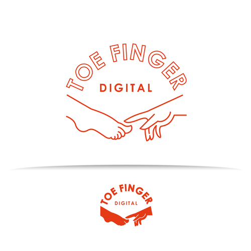 Finger design with the title 'A concept for Podcasting Network Logo'