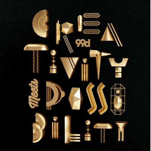 Typography artwork with the title 'Poster for 99D'