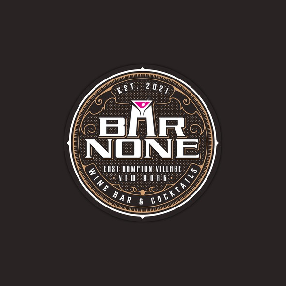 Coaster design with the title 'BAR NONE'