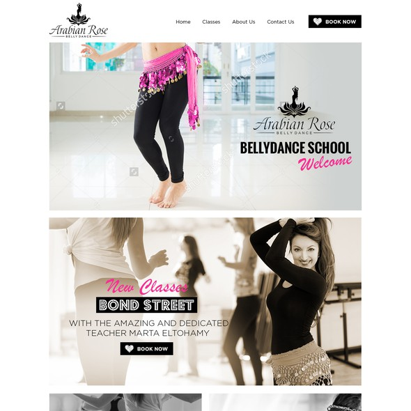 Dancer design with the title 'Bellydance School'