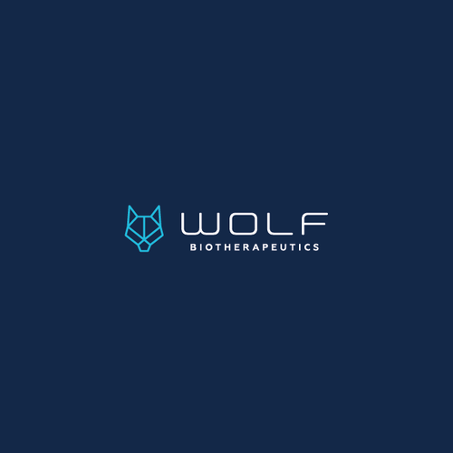 Abstract modern logo with the title 'Wolf Biotherapeutics Logo'