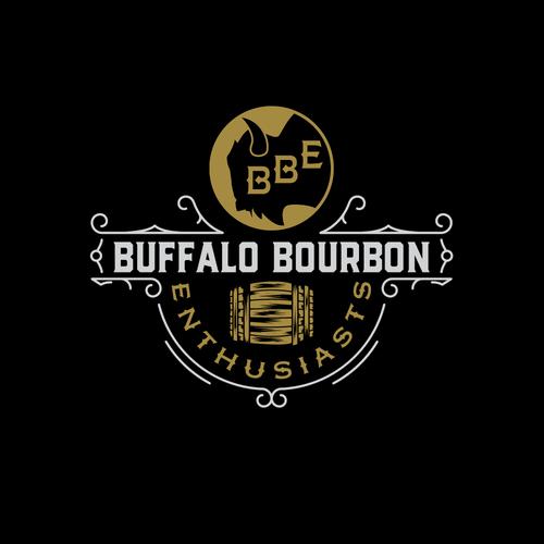 Buffalo logo with the title 'buffalo bourbon enthusiasts logo'