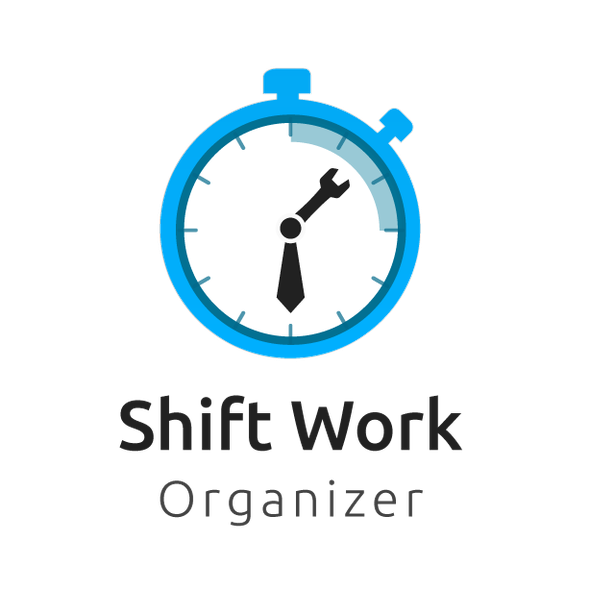 IPhone logo with the title 'Logo concept For shift work organizer app'