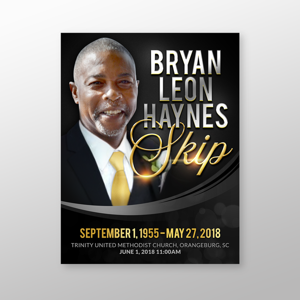 Funeral design with the title 'Bryan Leon Haynes'