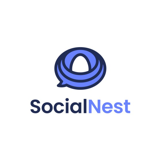 Nest design with the title 'SocialNest'