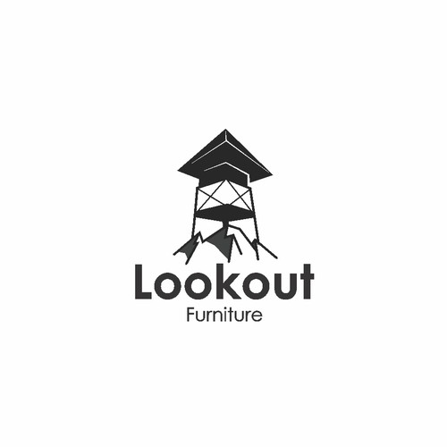 Look logo with the title 'Lookout Furniture logo design concept'