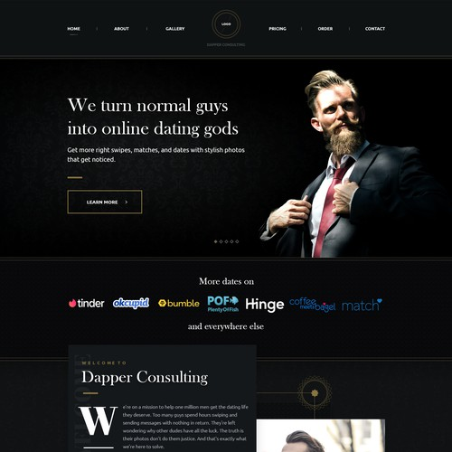 Sleek website with the title 'Dapper Consulting'