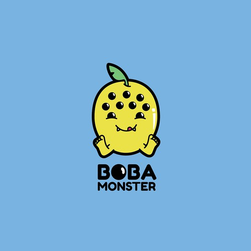 Boba logo with the title 'Boba Monster'