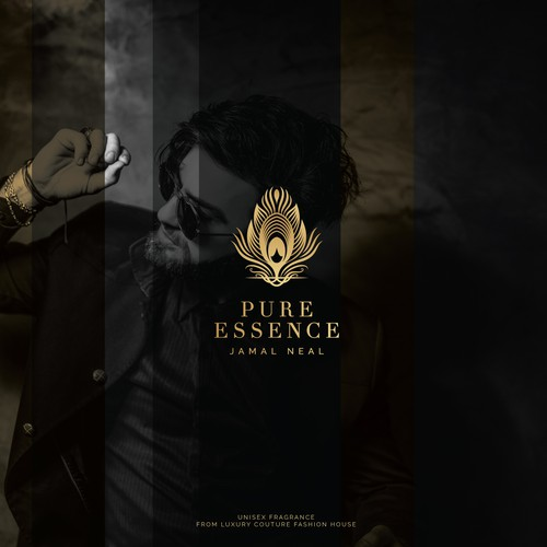 Perfume logo with the title 'An abstract logo for perfume brand, Pure Essence by Jamal Neal'