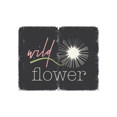 Hippie logo with the title 'florist logo THIS DESIGN IS AVAILABLE'
