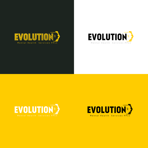 Evolution logo with the title 'Contest Finalist of Logo for Evolution-Mental Health Services'