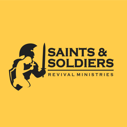 Soldier logo with the title 'Logo Concept Saints and Soldiers'