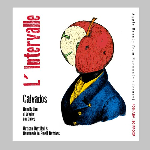 Design label with the title 'Calvados label'