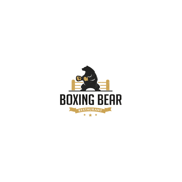 Punch design with the title 'Boxing Bear'