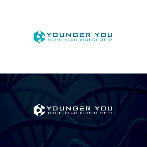 Esthetician logo with the title 'Younger You'