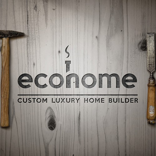 """Mason logo with the title 'Logo for Craftsman builders """"EcoHomes""""'"""