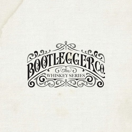 Whiskey brand with the title 'Bootlegger Co.'