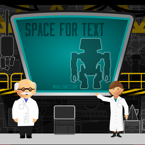 Gaming artwork with the title 'Background for an educational app'