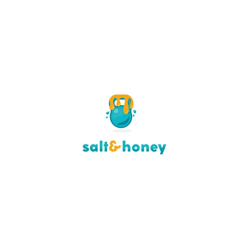 Dumbbell logo with the title 'Logo concept for Salt&honey'