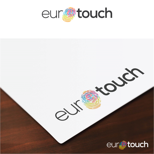 Artistic brand with the title 'European Artistic Paint Company Logo Design'