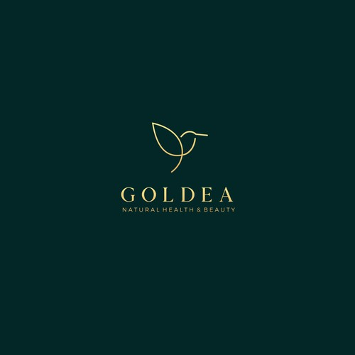 Beauty logo with the title 'GOLDEA'