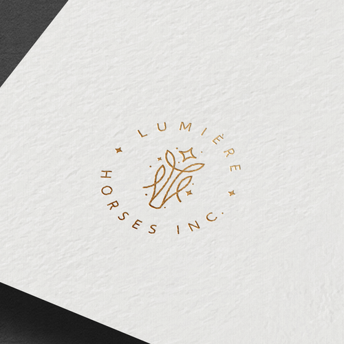 Horse logo with the title 'Lumiere Horses Inc. Logo'