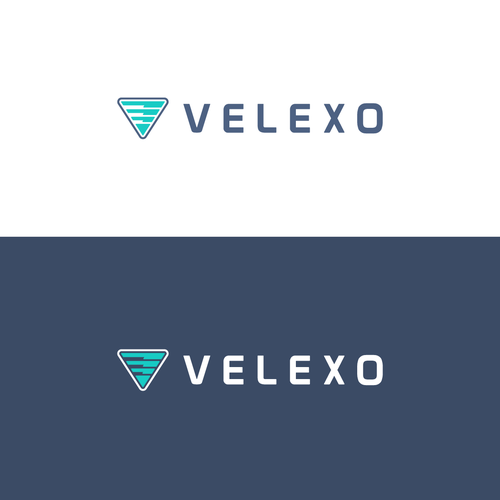 V brand with the title 'Logo for tech company.'