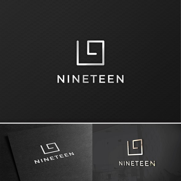 Circle swirl logo with the title 'Concept logo made for Golf ranch called Nineteen'
