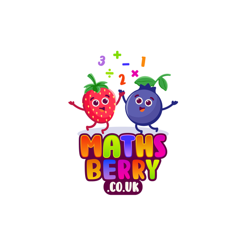 Strawberry logo with the title 'Logo Design for Mathsberry'