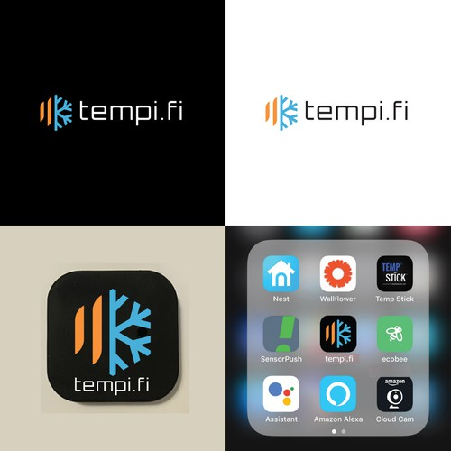 Hot design with the title 'Logo Design for tempi.fi'