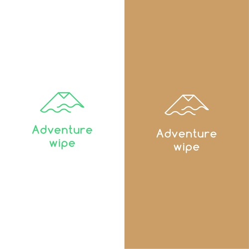 Towel logo with the title 'Adventure wipe'