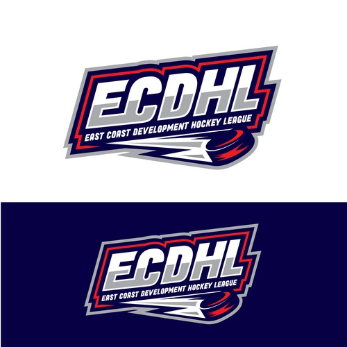 Academy design with the title 'Bold Hockey League logo'