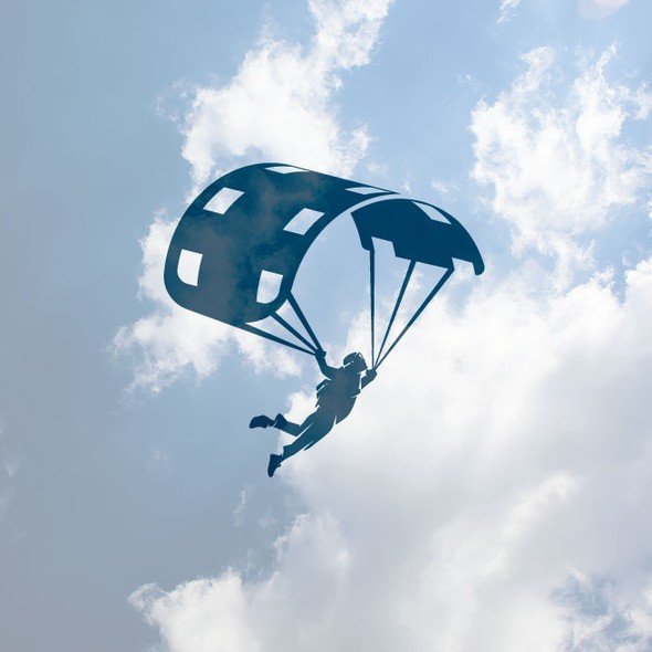 Skydiving design with the title 'Media Logo'