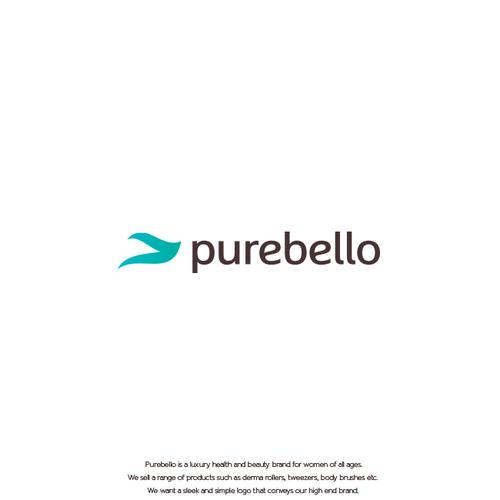 Soft logo with the title 'Logo design for purebello'