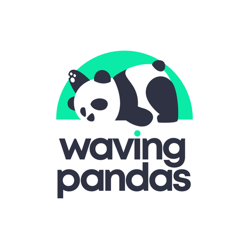Sleep design with the title 'waving lazy panda'