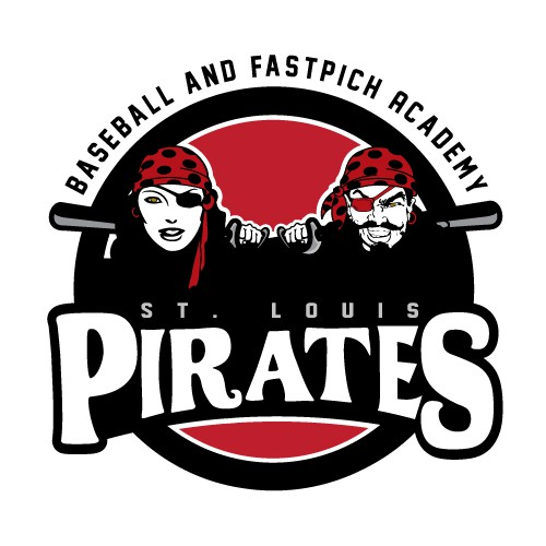 School logo with the title 'Pirates Baseball Academy Logo'