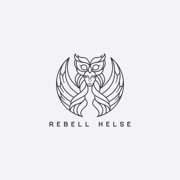 Life coaching design with the title 'Athena goddess of wisdom for Rebell Helse '