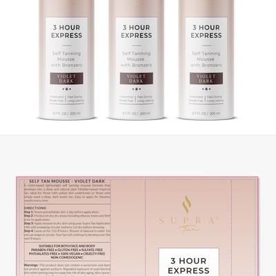 Supra Tan Mousse Label