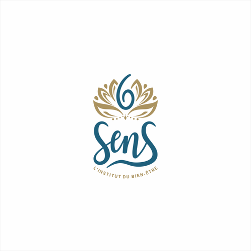 Spa logo with the title 'Attractive logo for 6 sens'
