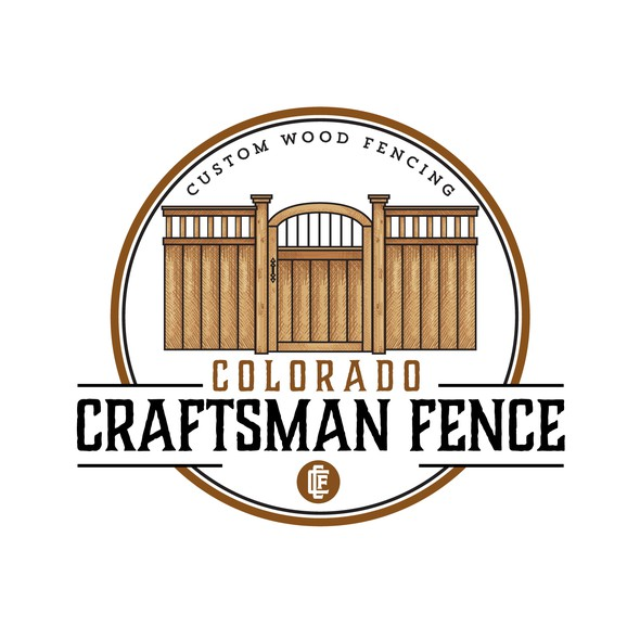 Carving logo with the title 'Logo Design for Colorado Craftsman Fence'