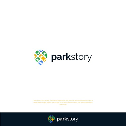 Parking logo with the title 'Park Story'