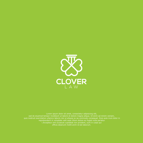 Clover design with the title 'Clover Law'